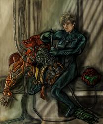 Samus and her Varia Suit by Estebanmn