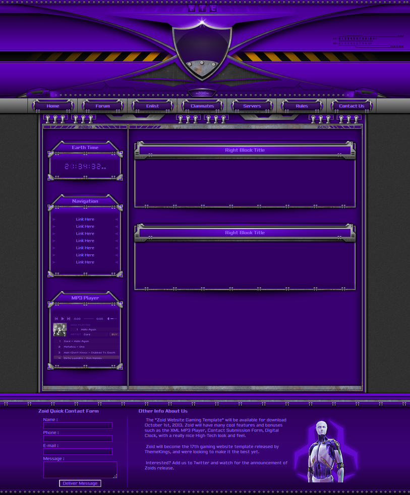 Zoid Website Gaming Theme by ThemeKings by themekings