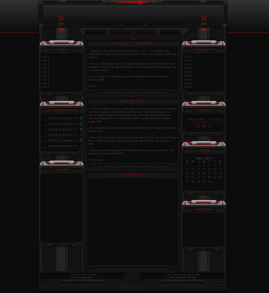 X-71 Gaming Website Theme by ThemeKings by themekings