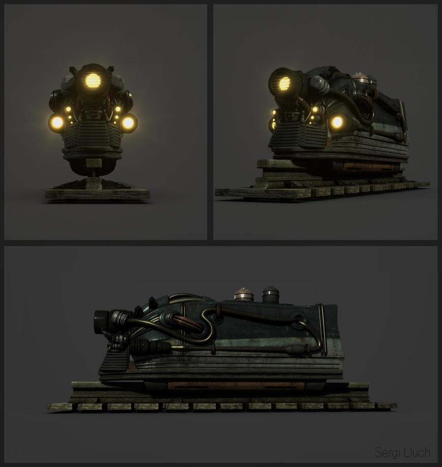 Steampunk Train by 7errores