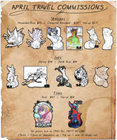 April Travel/Traditional Commissions (SALE TODAY!) by Temrin