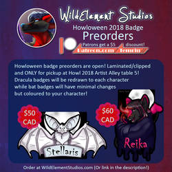 Howloween Badge Preorders - Close Oct 15th!
