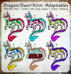 Dragon/Deer/Kirin Adopts by Temrin