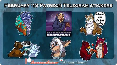 PTR - Feb Telegram Stickers SFW by Temrin