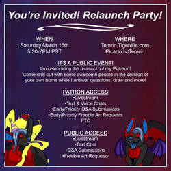 Relaunch Party is LIVE! by Temrin