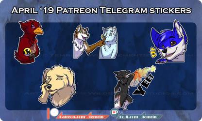 PTR - April Telegram Stickers by Temrin