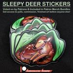 Sleep Deer Stickers
