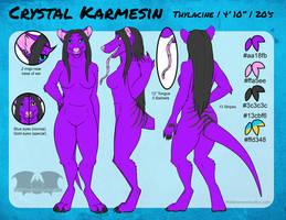 SFW Ref Sheet - Crystal (Thylacine)