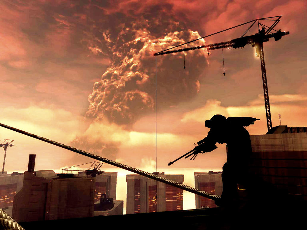 Halo 3 ODST - Cityscape by Locke-357