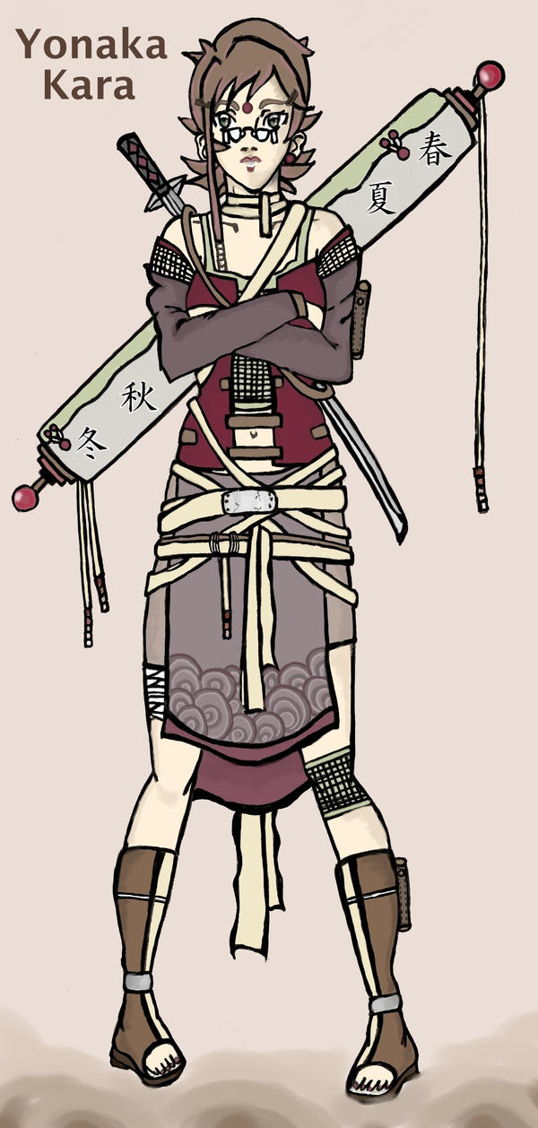 Naruto OC:Yonaka Kara by ManabeLady1313