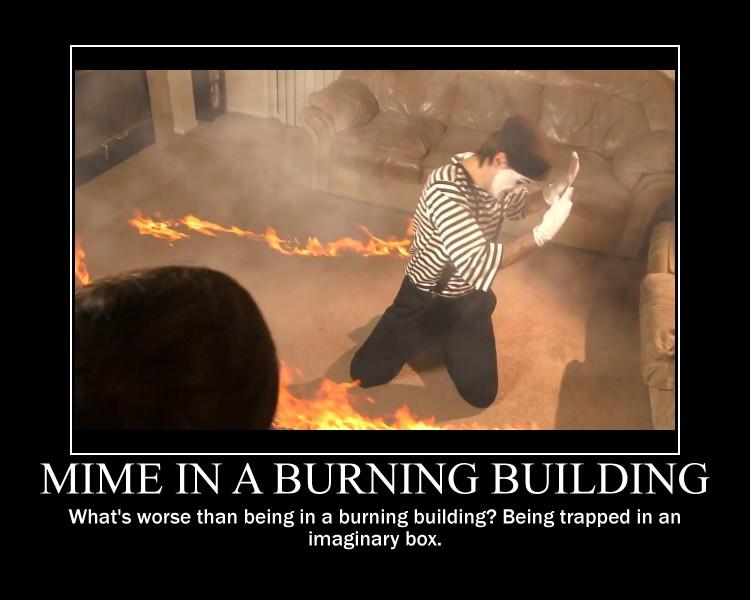 Burning Building Wallpaper Mime burning building