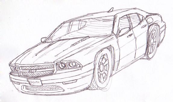 chevy chevelle concept sketch1 by scottahemi on deviantart