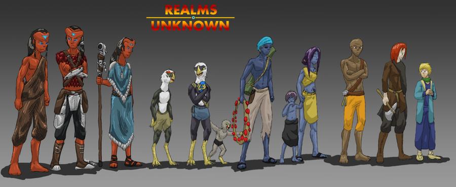 Realms Unknown, Fantasy Races by ScottaHemi on DeviantArt