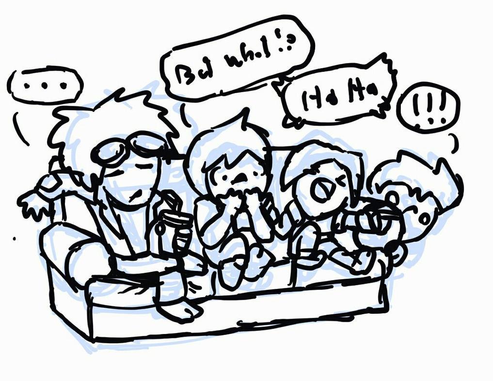 Movie Night doodle by ScottaHemi