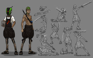 Cyberpunk Propane Sword Pose Practice by ScottaHemi