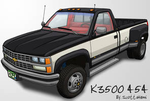 Custom Silverado K3500 454 by ScottaHemi