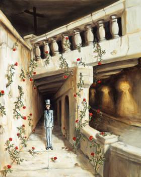 Skeleton in Underpass