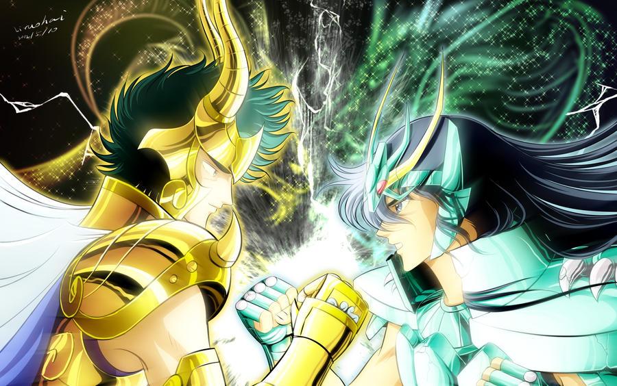 Shiryu VS Shyura by liruohai