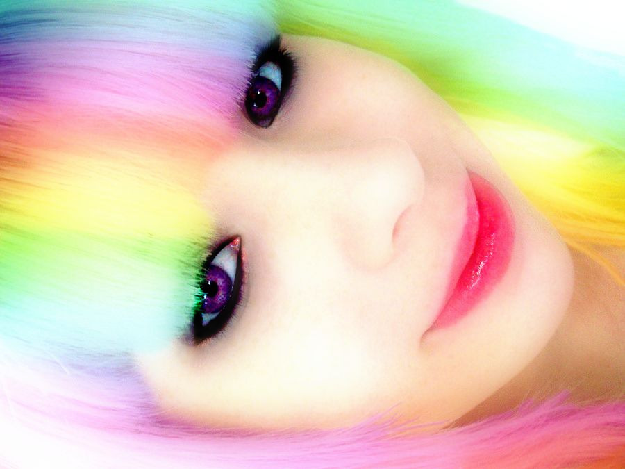 Rainbow Hair. by LordMcWhiskers on DeviantArt