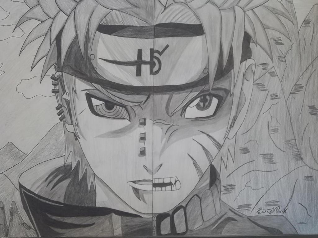 Pain Vs Sage mode Naruto by Naruto Uzumaki Sage Mode Drawing