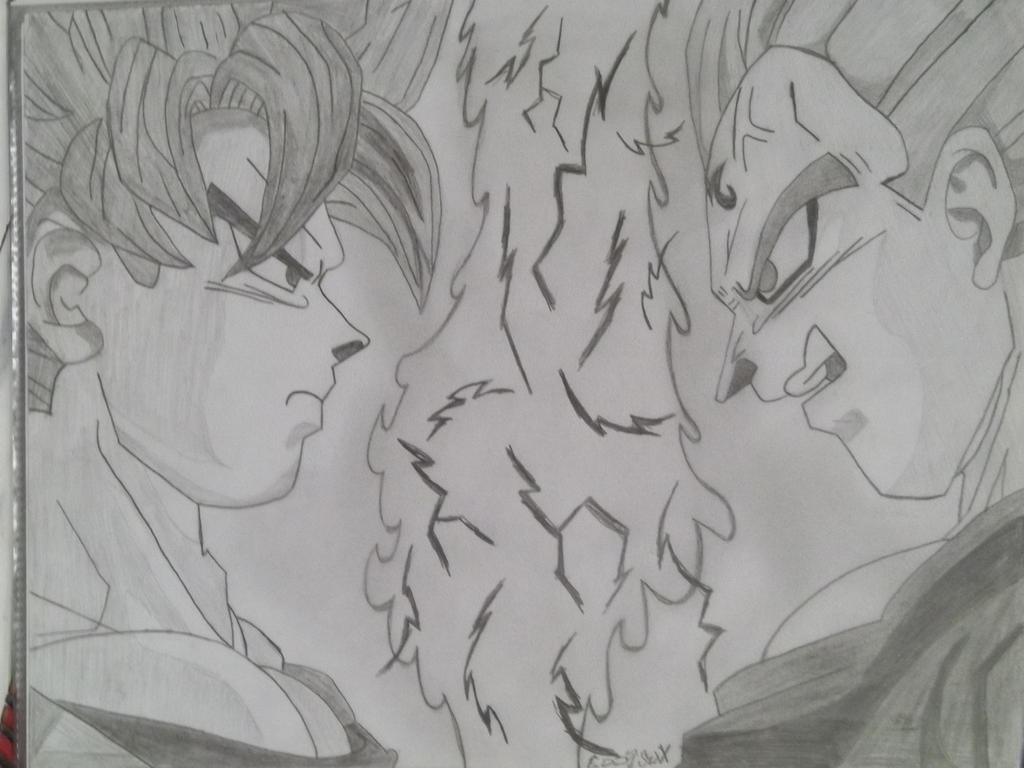 Majin vegeta vs super saiyan 2 goku by eddysixx on deviantart - Goku vs vegeta super saiyan 5 ...