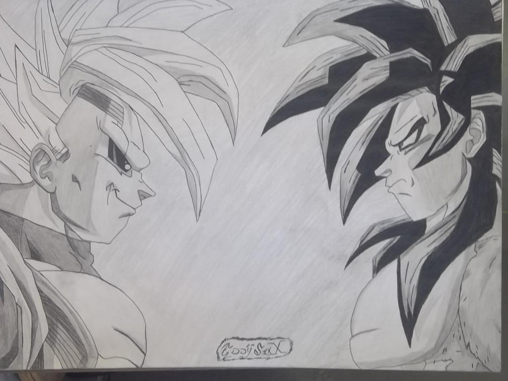 Baby vegeta vs super saiyan 4 goku by eddysixx on deviantart - Goku vs vegeta super saiyan 5 ...