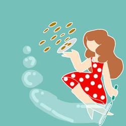 Bubbles,pocadots,cookies by sugarymelon