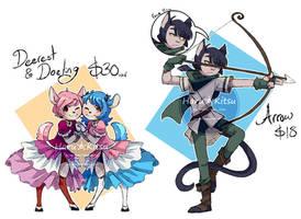 [ 2 / 2 Sold ] Deer and Cat Adoptables by Fynntasmal