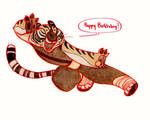 Tigress Birthday Card