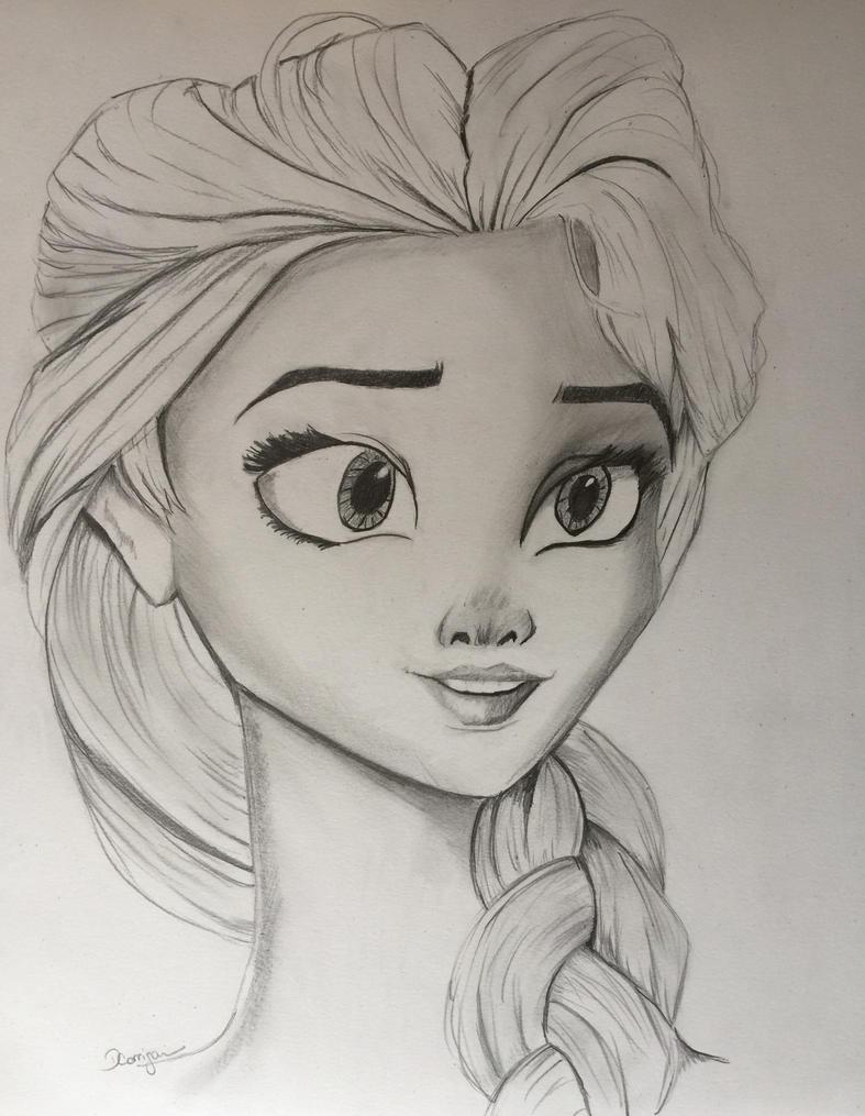 Elsa Drawing by dcorrigan