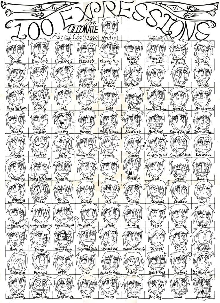 Adisega's 100 expressions by AdvancedDefense on DeviantArt