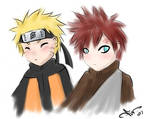 naruto and gaara -speed paint