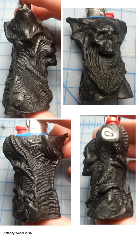 Polyclay lighter case by anthonyweber