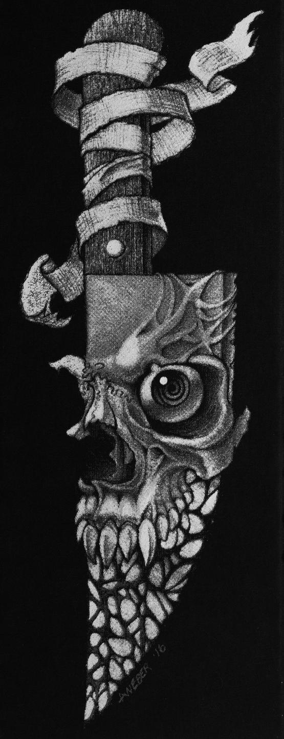 Knifemare screenprint by anthonyweber