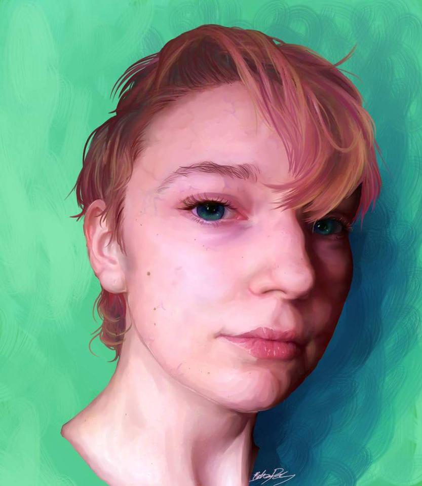 Self Portrait by Rose-Anthoney
