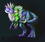 Her Big Blue Dinosaur