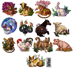 (2 hrs) Botanical Chinese Zodiac