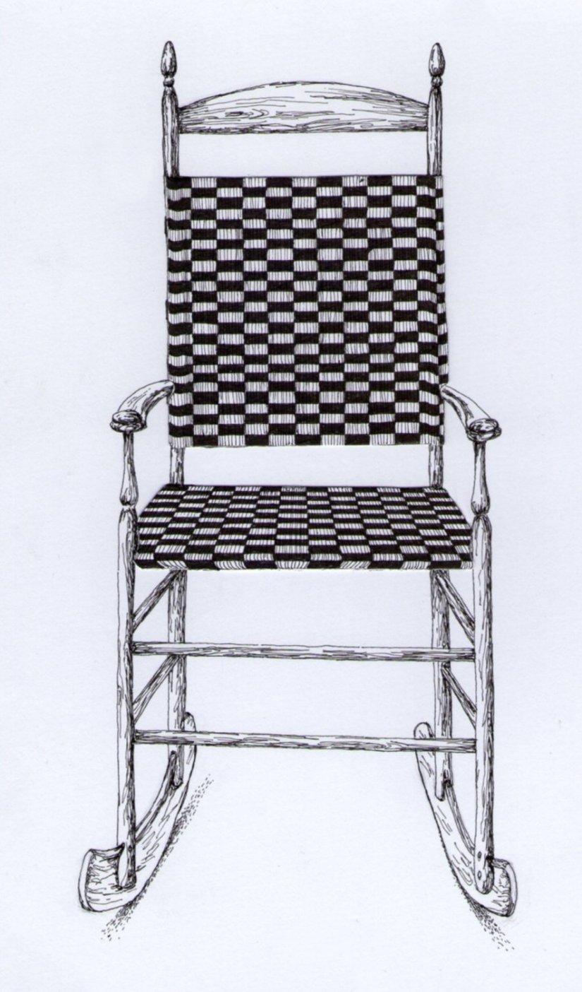 Shaker rocking chair by obsidianserpent on deviantart