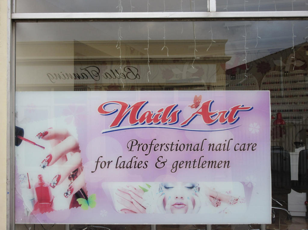 Nail Bar Sign Fail By ObsidianSerpent