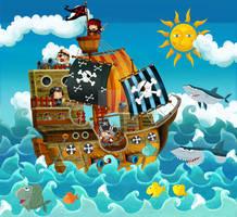 pirate ship by honeyflavourcom