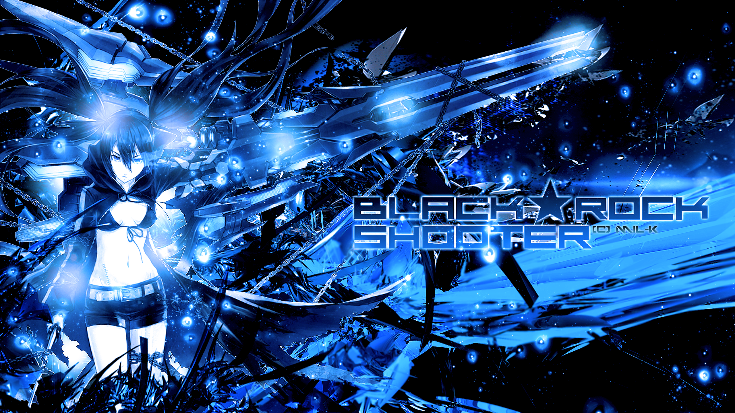 black rock shooter wallpapermoniique-x-x on deviantart