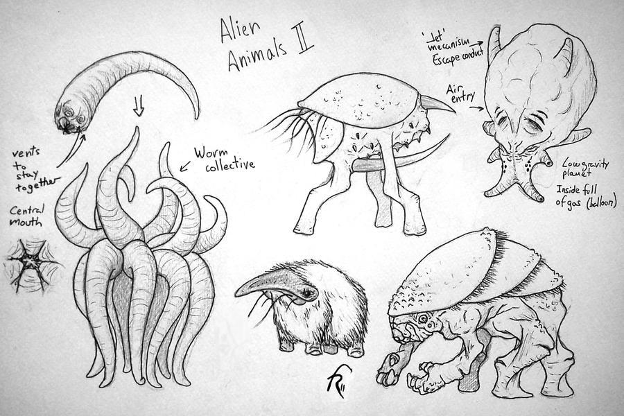 Alien animals 2 by franxurio