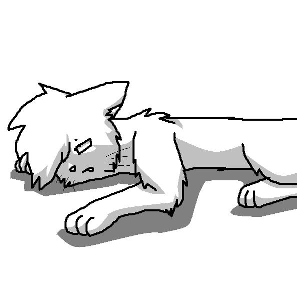 Warrior Cats Dead: Dead Cat Lineart By Kitsuneko00
