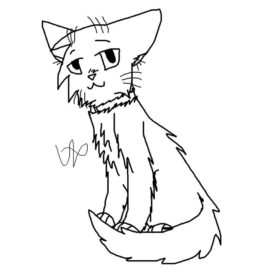 warrior cats   kittypet lineart by wiktoria00 on deviantart