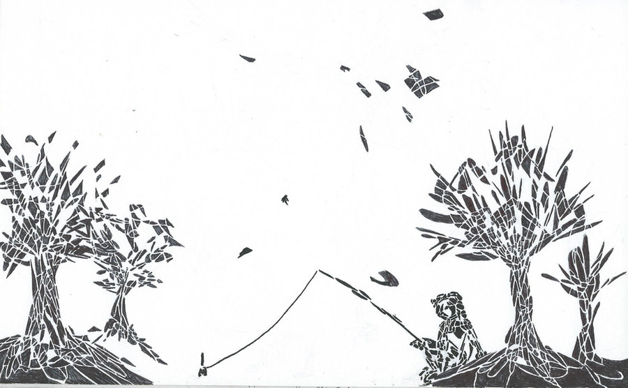 Inktober - Day 20 - Shattered by drosera-sundews