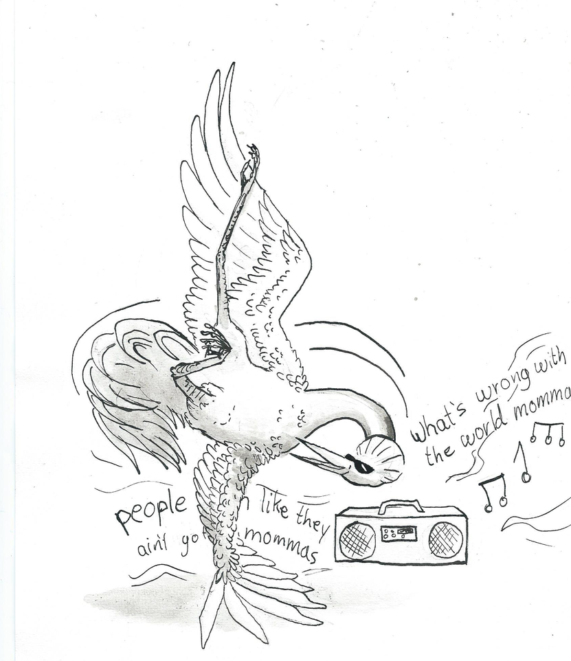 Inktober - Day 24 - Dancing Crane by drosera-sundews