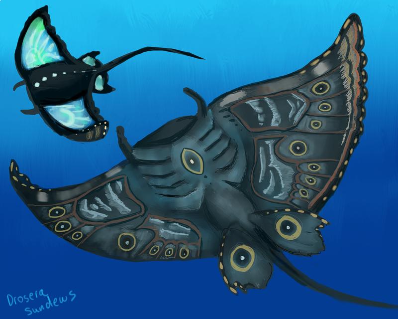 Blue Mantas by drosera-sundews