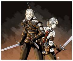 Geralt and Ciri by ART-RevolveR
