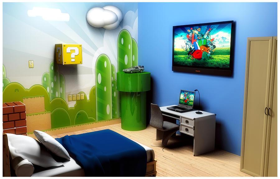 Super Mario Bros Bedroom by luiggi26 on DeviantArt