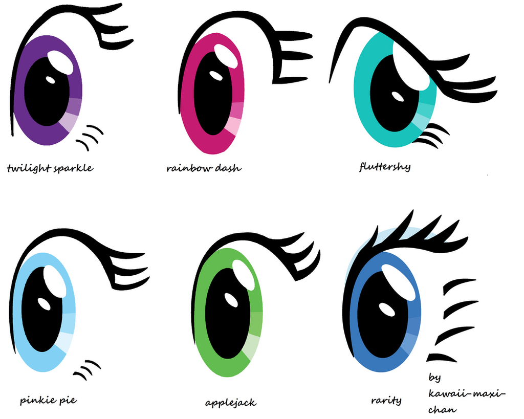 My Little Pony Eye Styles By Kawaii Maxi Chan On Deviantart